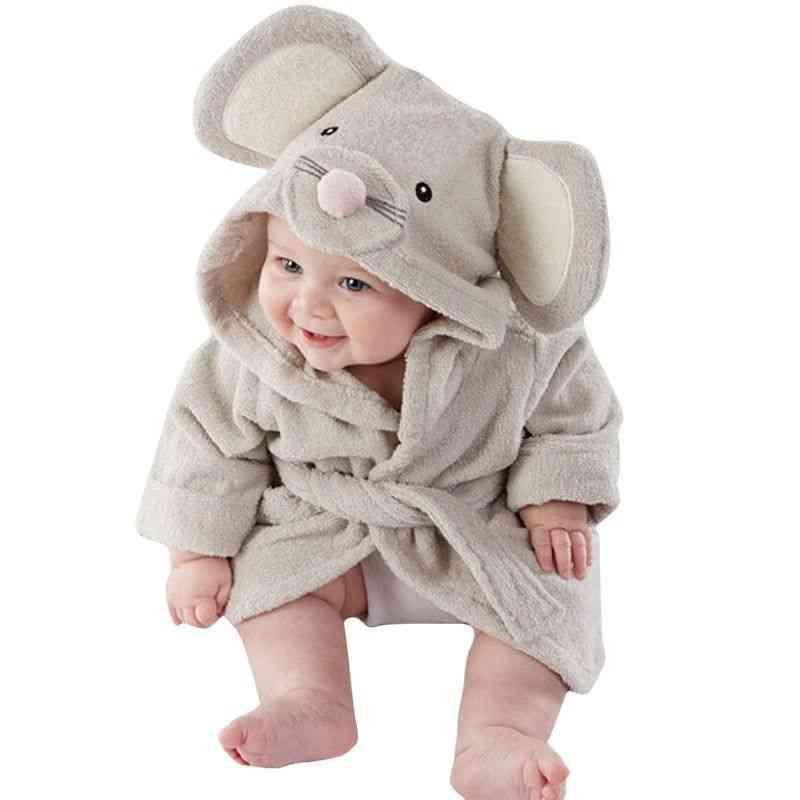 Cute,  Animal Ears Bathrobe, Long Sleeve Hoodies Belt