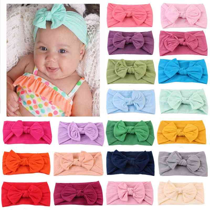 Soft Bow Knot- Turban Design-nylon Hair Bands For