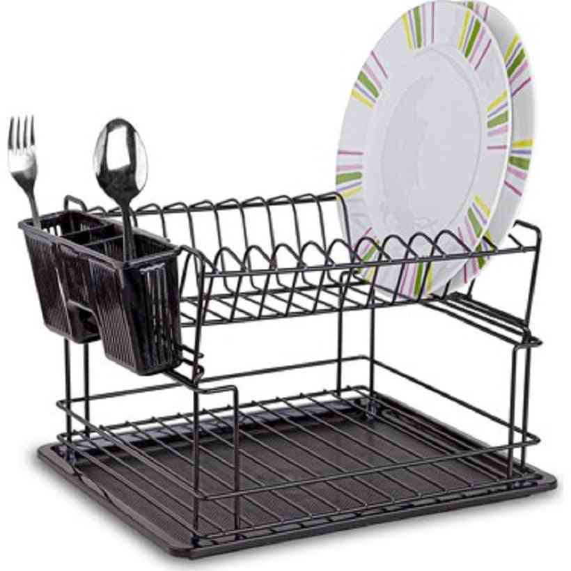 2 Layer Dish Drying Rack And Holder
