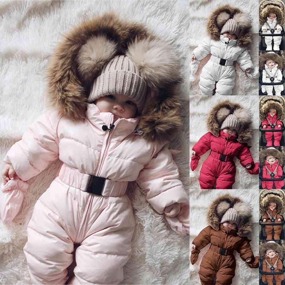 Winter Warm, Hooded Romper Jacket