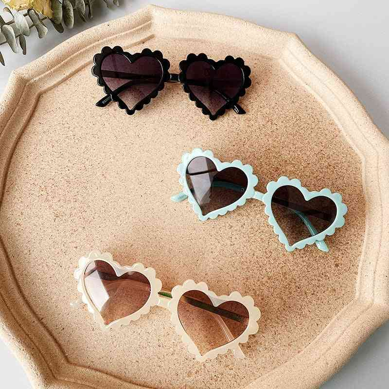 Solid Love Pattern Sunglasses For And