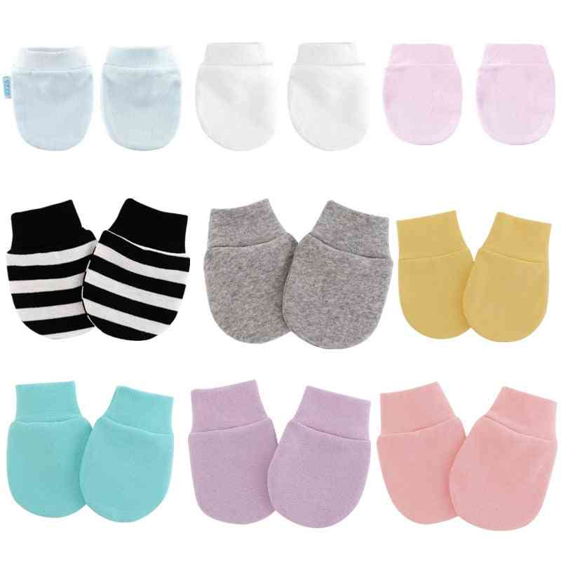 Simple Cute Knitted Mitten, Face Protect Glove For Newborn