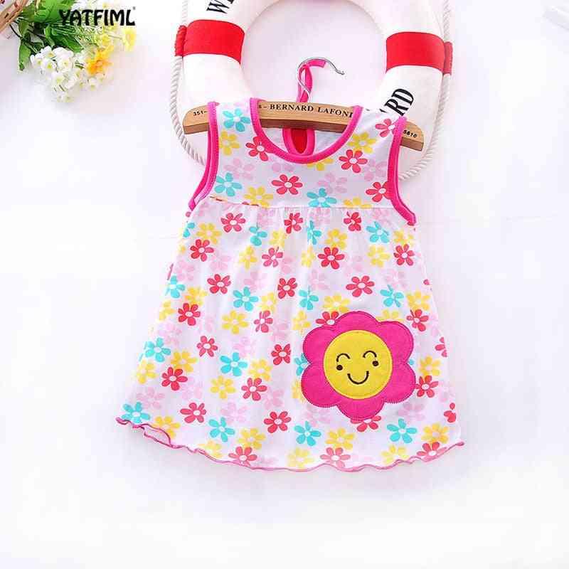 Cute Floral, Sleeveless Nightwear For Baby Girl