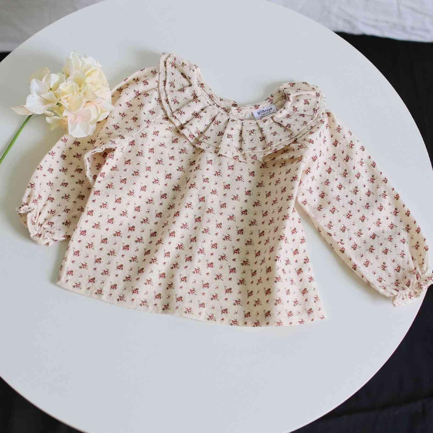 Spring & Autumn Full Rose Printing Long Sleeve Shirt For