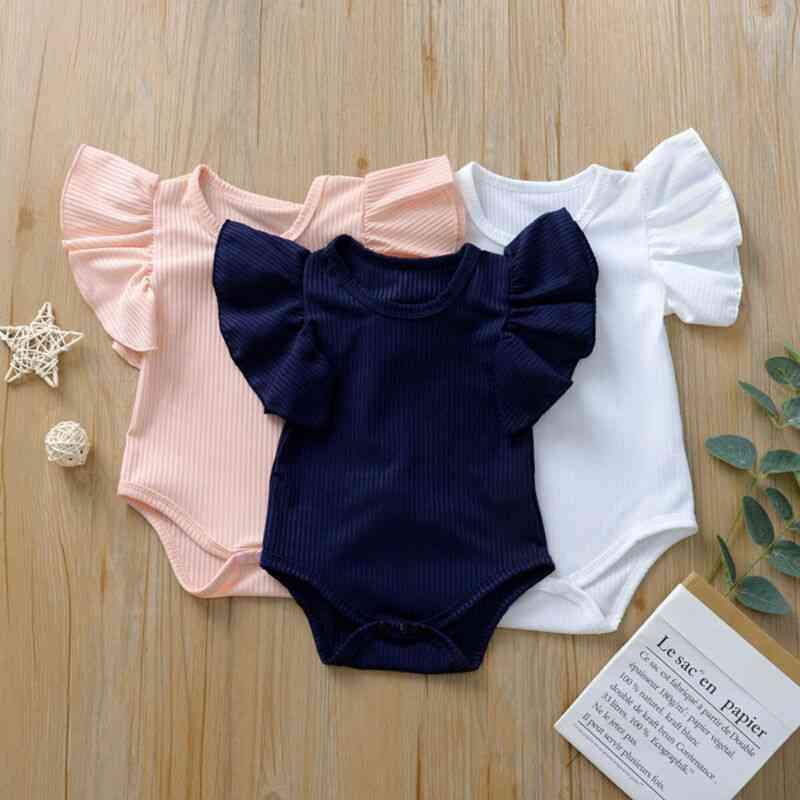 Cotton Short Sleeve Bodysuit-rompers For Kids