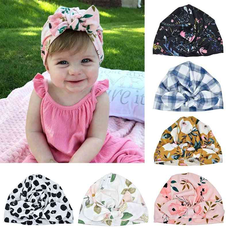 Kids Soft Turban Knot Girl Hat - Spring Autumn Winter's Hats For Baby