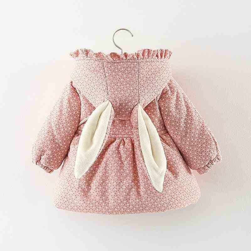 Autumn, Winter Baby Coats Jackets For Girl, Print Hooded