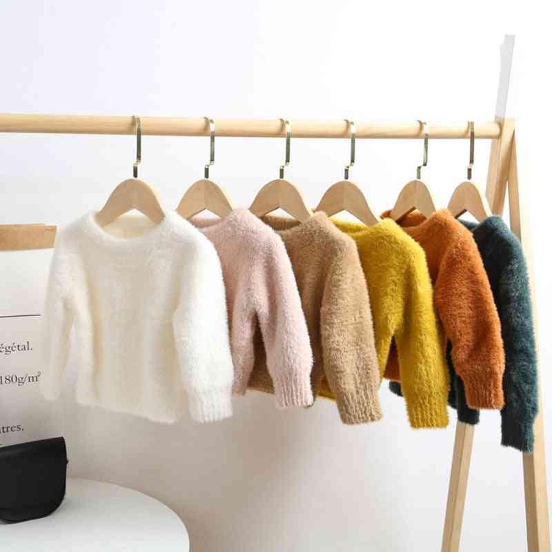 Autumn/winter Warm, Long Sleeve-faux Marten Hair Sweater