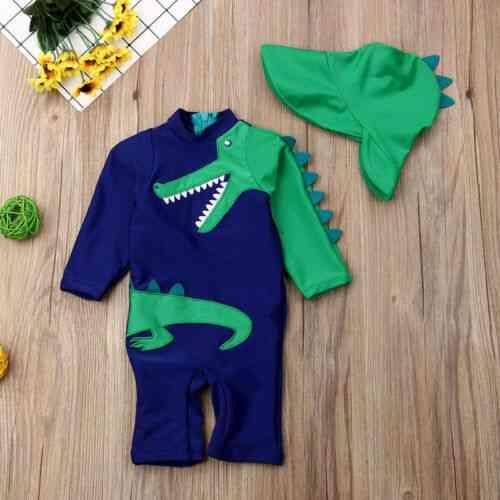 2pcs Dinosaur Swimsuit For Baby Boy