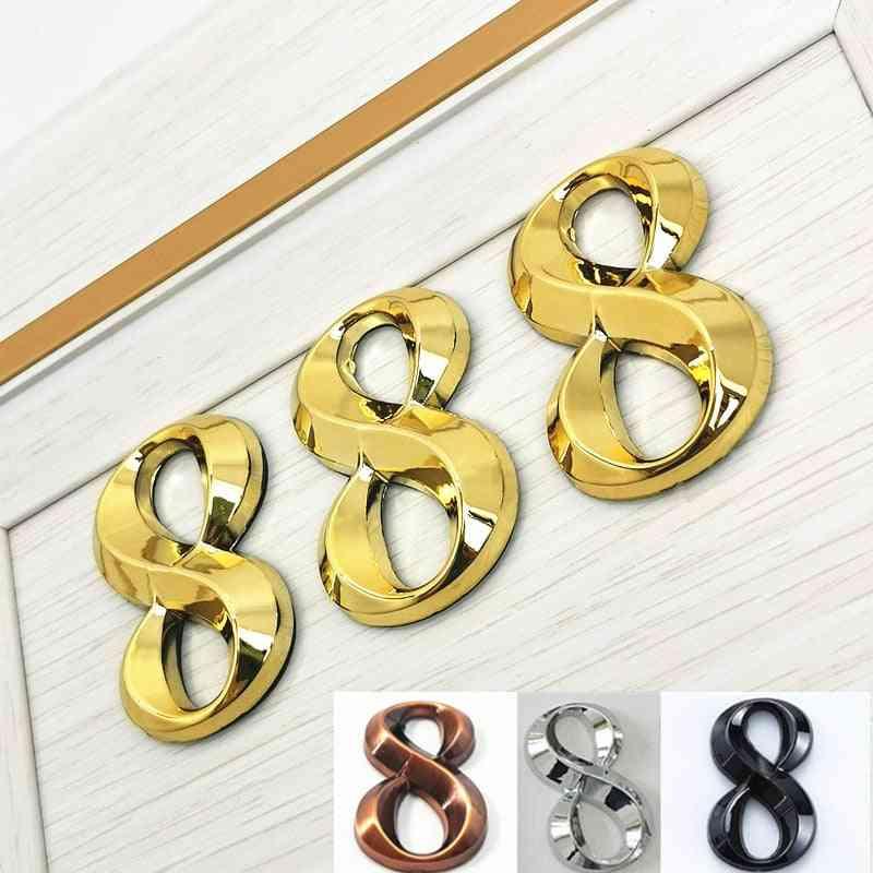 Home Address,  Door Label-electroplated Modern Digital Number