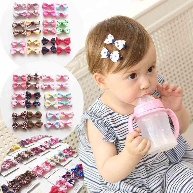 Cute Hair Clip Accessories, Headwear Baby Ribbon Bow Hairpins Full Cover Clips
