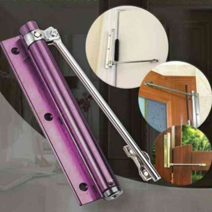Single Spring Strength Adjustable Stainless Steel Automatic Door Closer