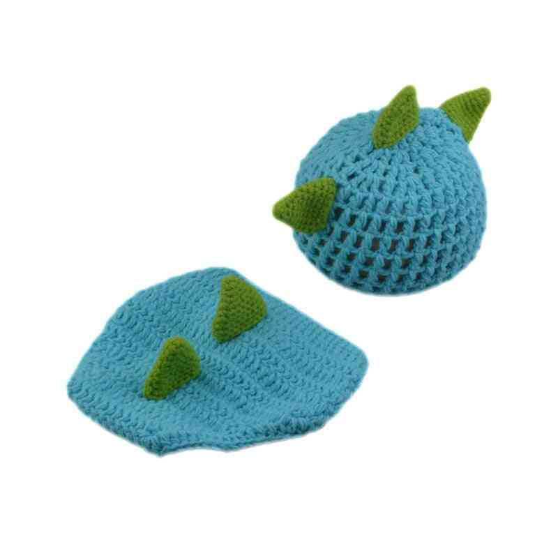 Cute Crochet Baby Dinosaur Outfits For Photo Props