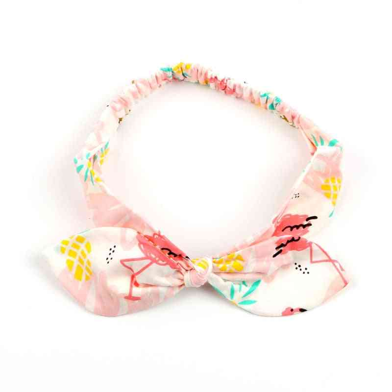 Baby Flamingo Pattern Bow, 100% Cotton Bloomers