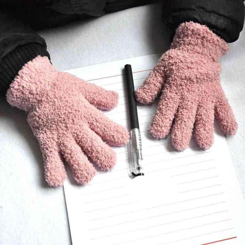 Baby Winter Coral Fleece Gloves, Warm Thicken Mittens