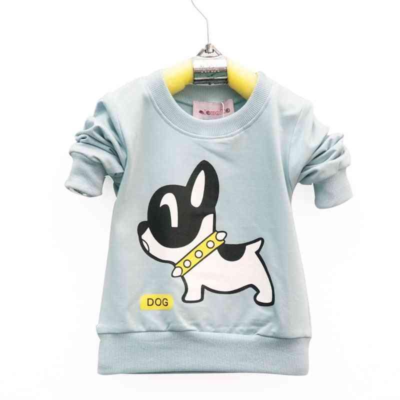 Cotton Dog Pattern, Long Sleeve Baby T-shirt