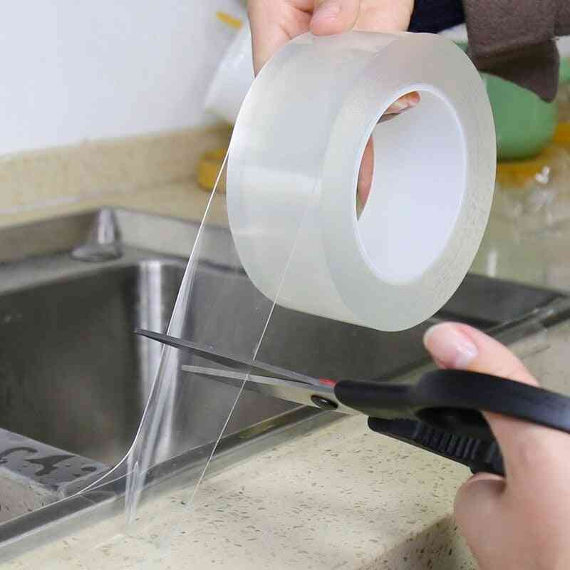 Home Kitchen Sink Gap, Waterproof, Strong Self-adhesive- Transparent Tape
