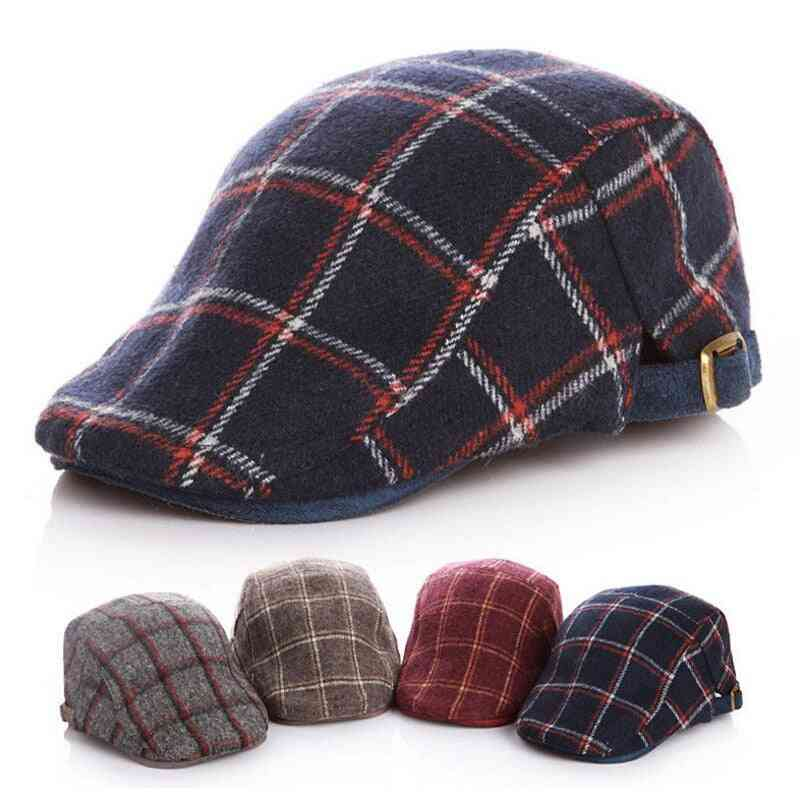 Adjustable Beret Hat For Wool Felt Ivy Caps