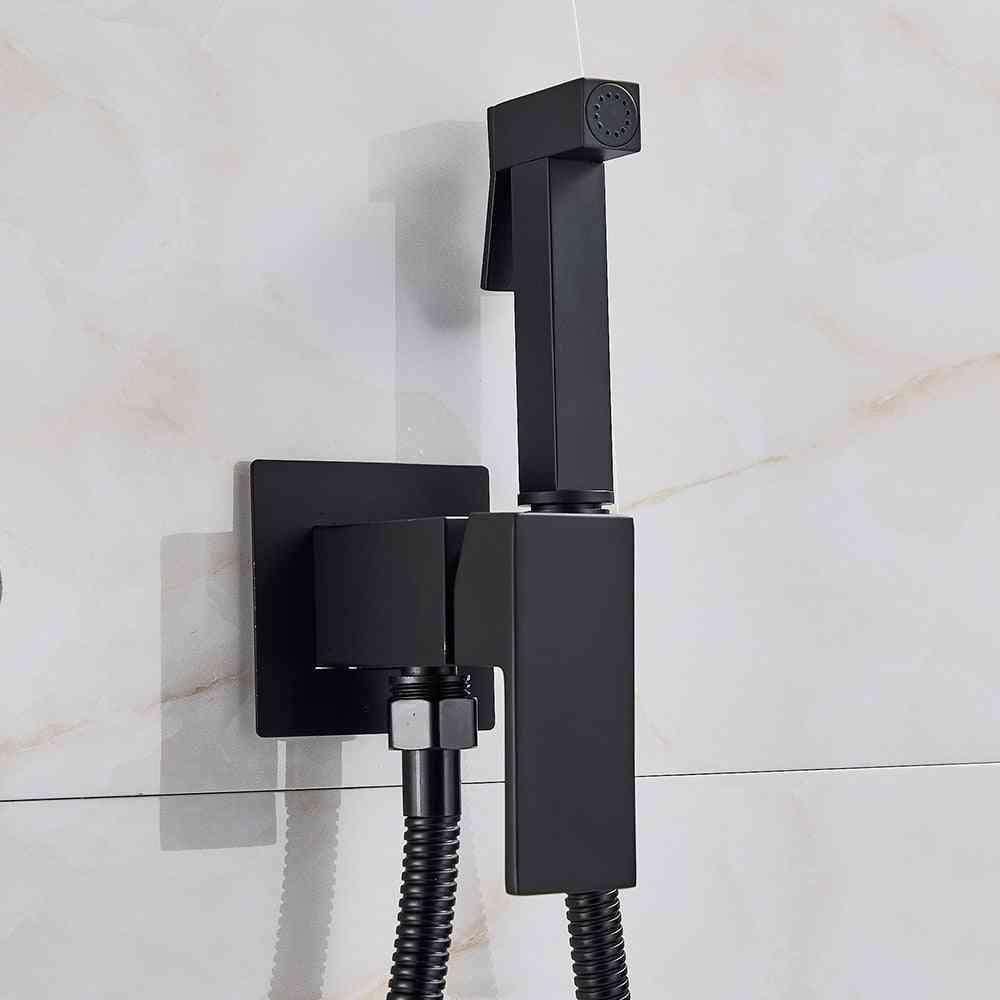 Bidet Faucet Tap,  Washer Mixer Cold Hot-crane- Square Shower Sprayer Head