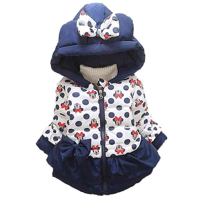 Baby Clothing Kids Hooded / Coats Winter Toddler Warm Cartoon, Minnie Mickey Jacket Baby Outerwear