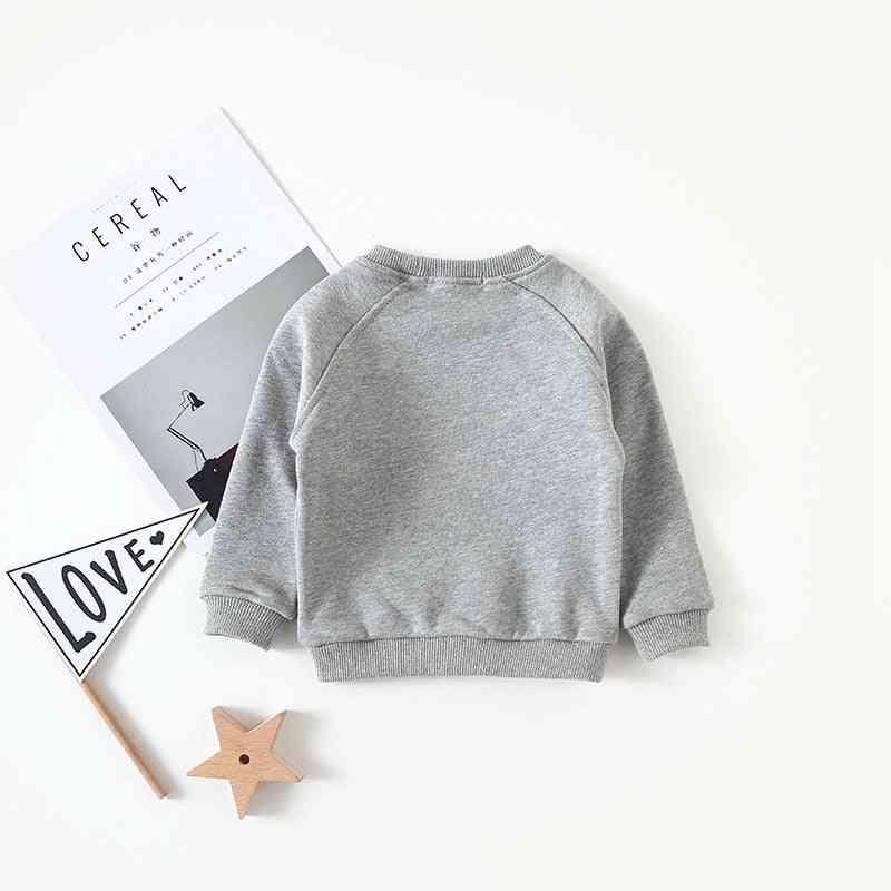 Star Printed, Long Sleeved-casual Sweatshirts For Kids