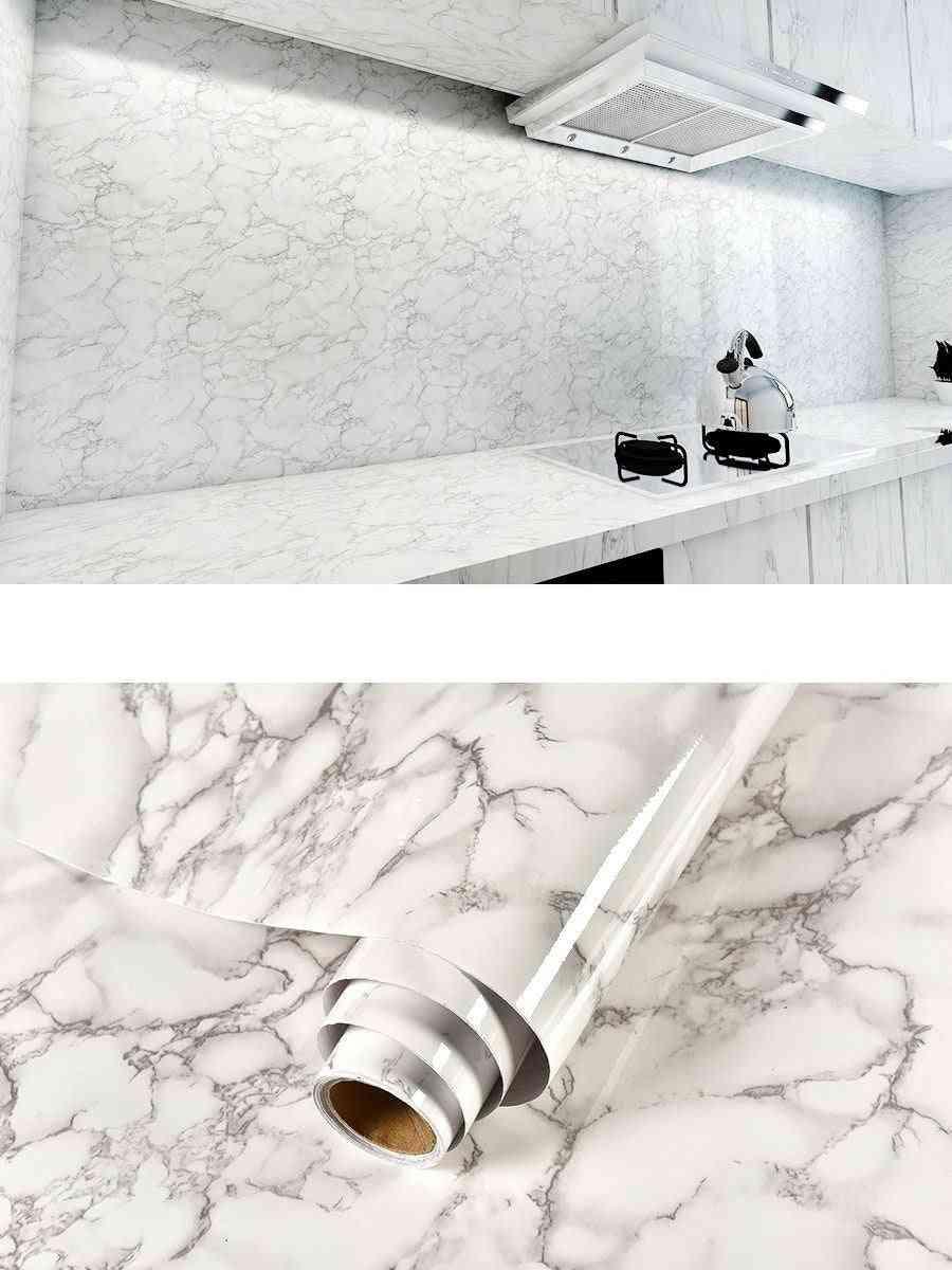 Marble Vinyl Self Adhesive Waterproof Wallpaper