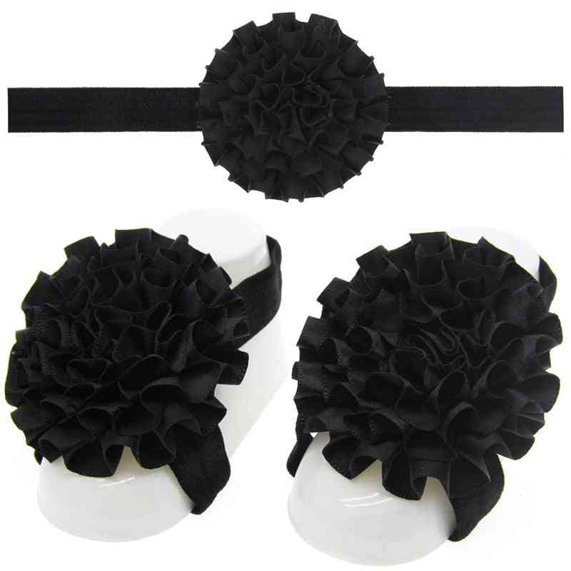 Shiny 3pcs Flower Design Headband And Foot Decoration Accessories