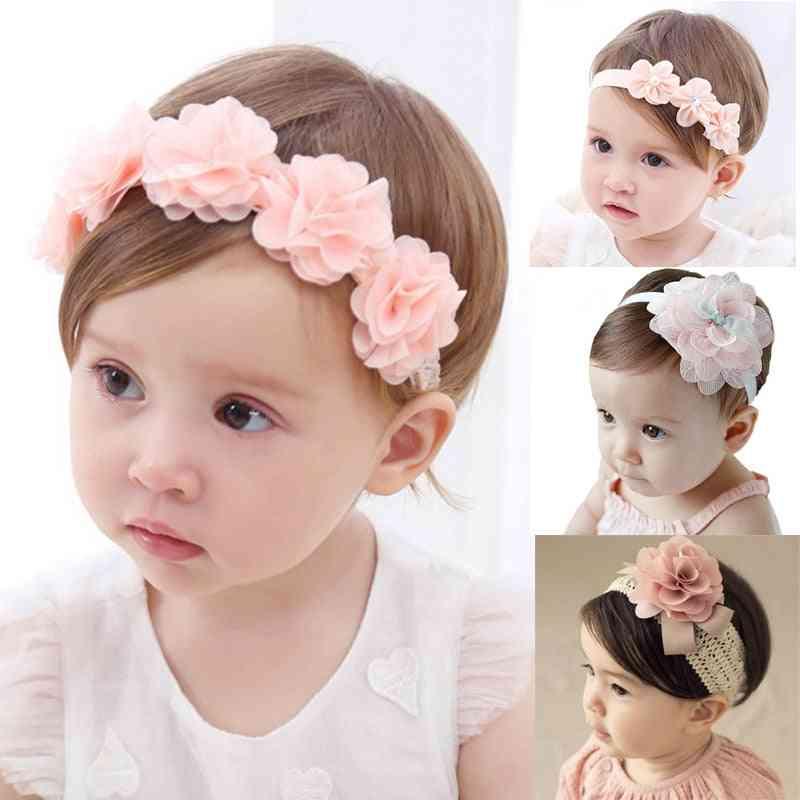 Baby Headband, Flower Bows -sweet Hair Bands