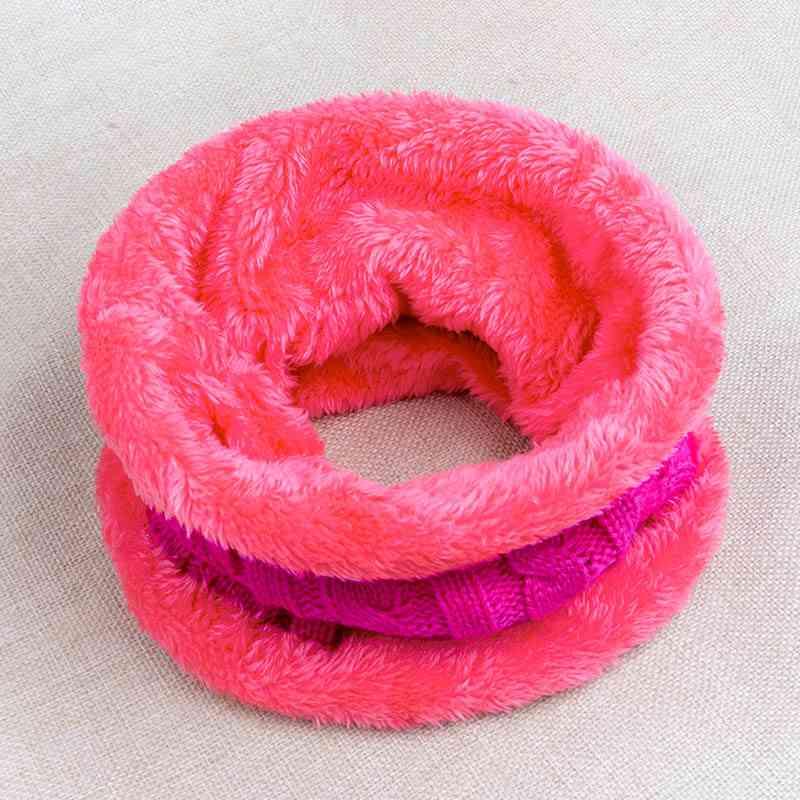 Children's Thickening Plus Velvet Winter Scarf, Cute Neck Collar