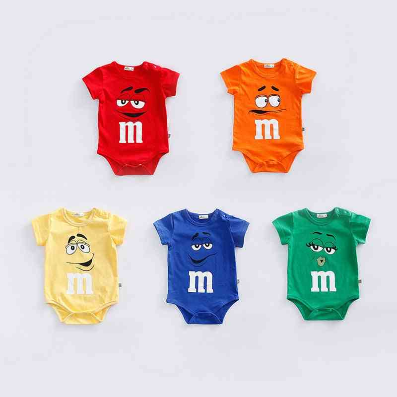Newborn Baby Summer Rompers Jumpsuit With Short Sleeves