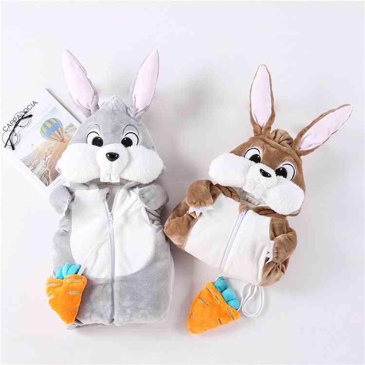 Winter Baby Vest, Cartoon Rabbit Hooded