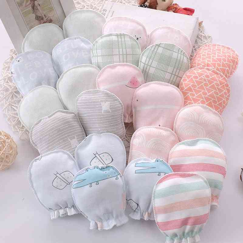 Baby Anti Scratching Gloves, Newborn Cotton Protection Hand
