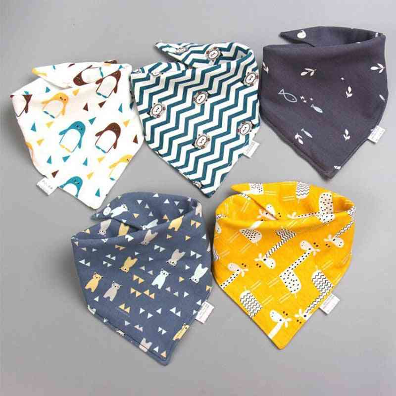 Baby Triangle Double Cotton Bibs