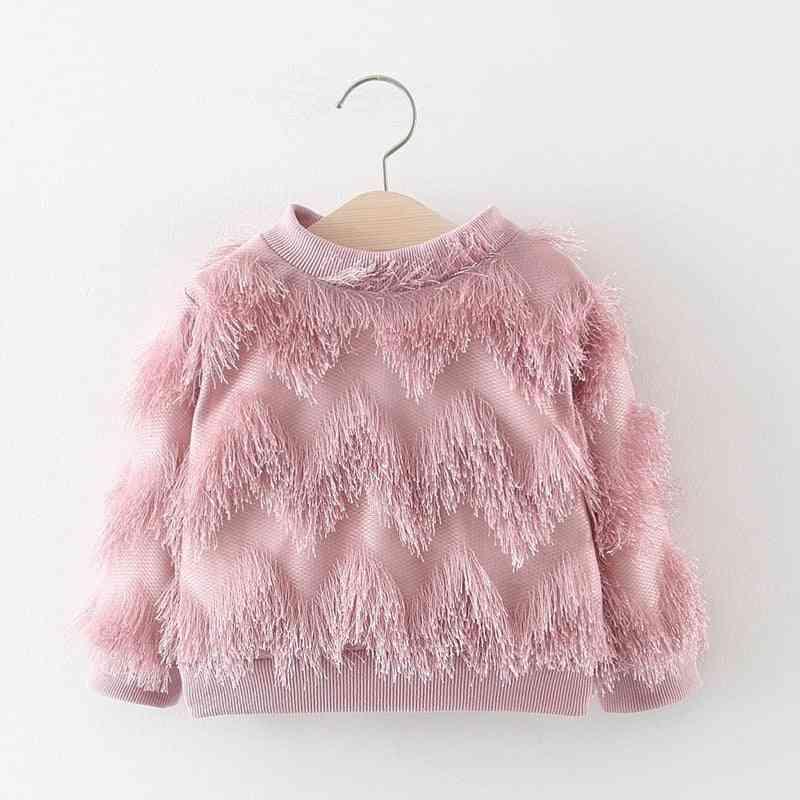 Fashion Warm Winter Velvet Tassel Thicken Pullover
