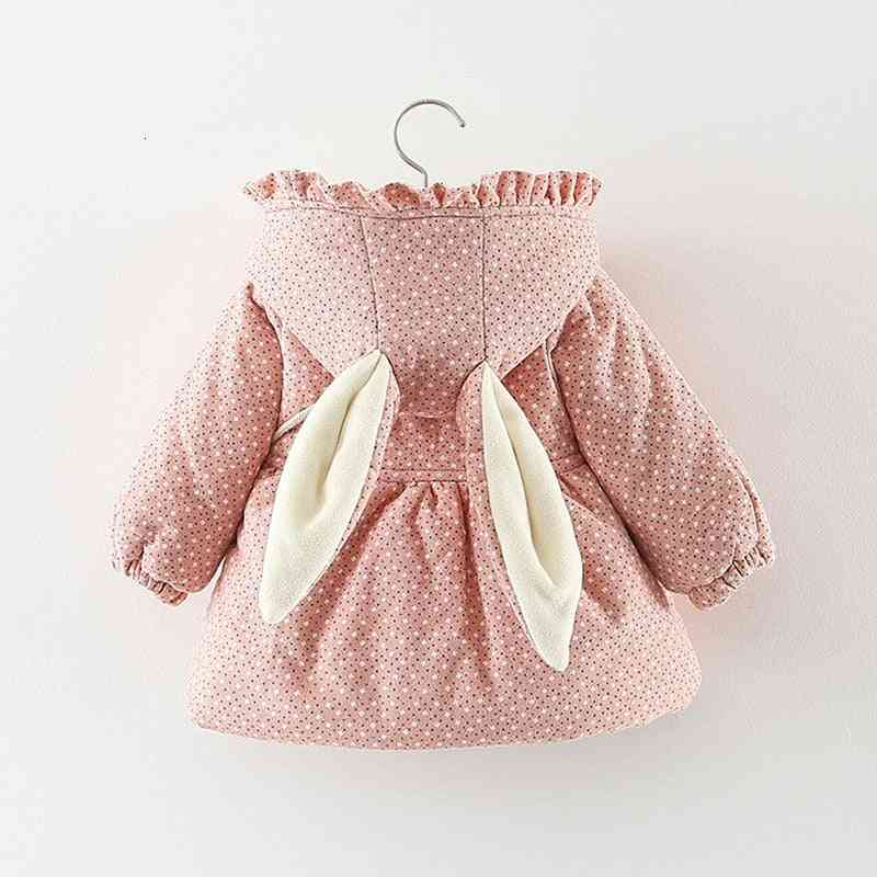 Newborn Girl Clothes, Floral Hooded Cotton Padded Jacket Outerwear