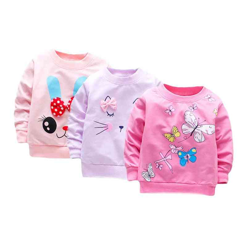 Baby Girl Long Sleeve Tops, Cotton Casual Spring T-shirt