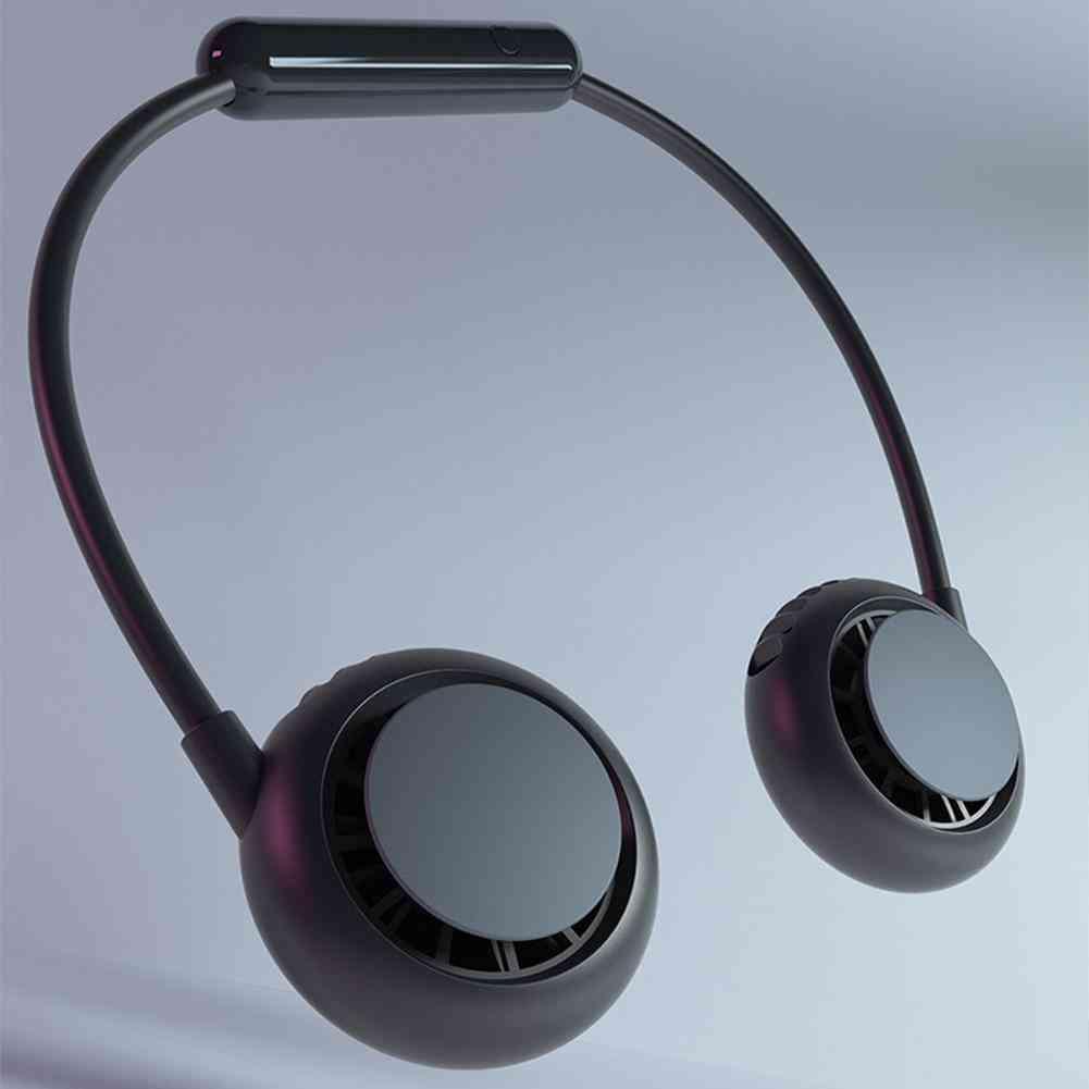 Mini Portable And Adjustable-usb Neckband Fan