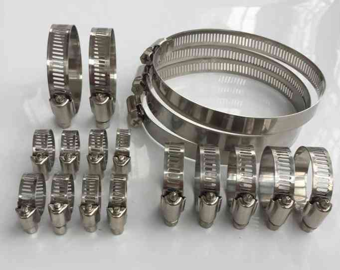 10pcs Of Stainless Steel, Adjustable Pipe Hose Clamp