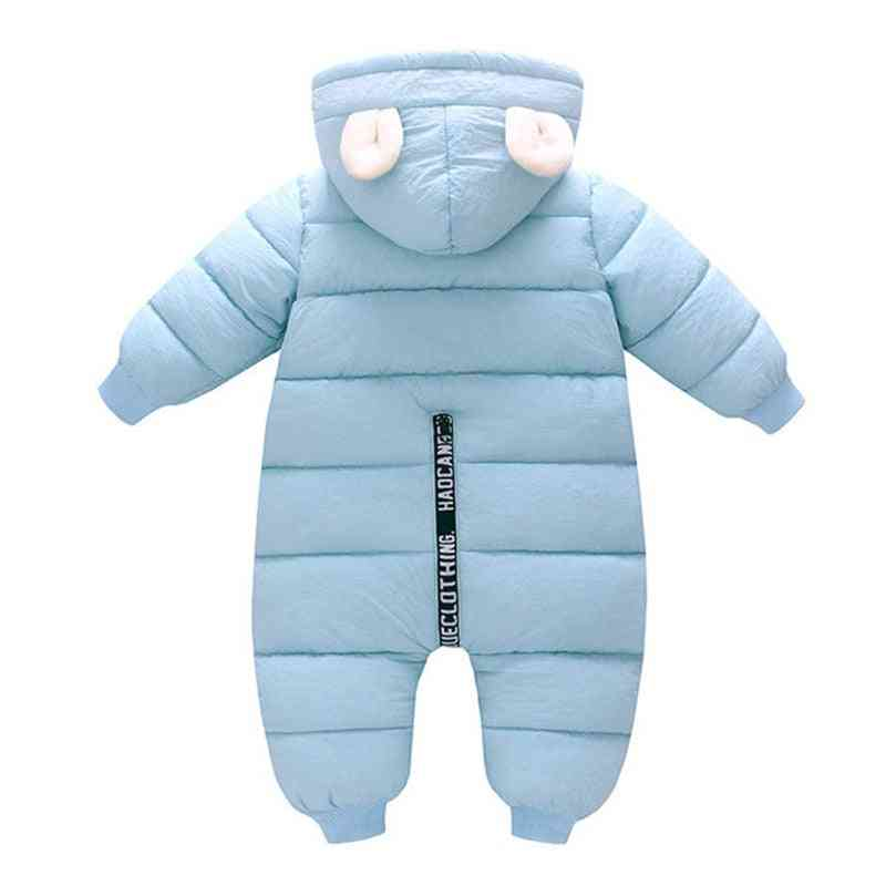 Winter Warm, Thick Romper-hooded Snowsuit