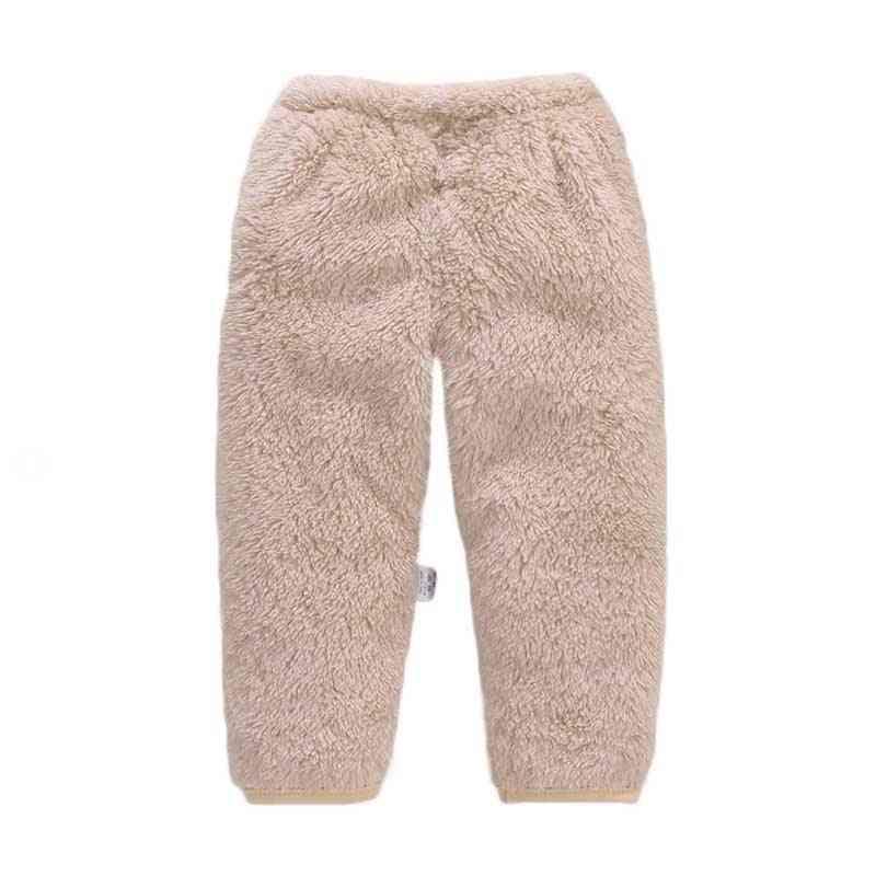 Warm Baby Pants Fleece -solid Trousers