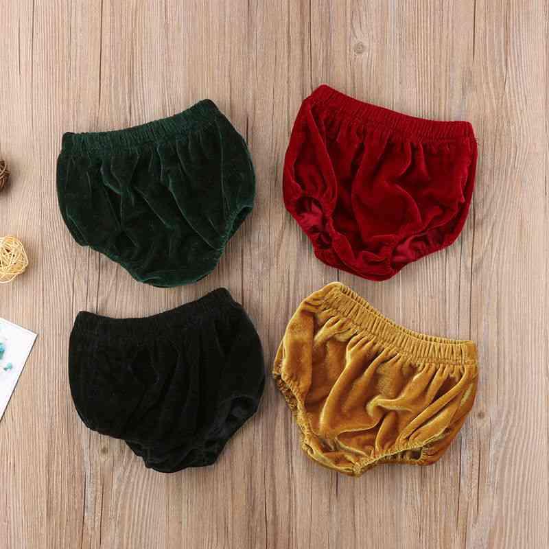 Kids Shorts-velvet Bottoms Bloomer Short