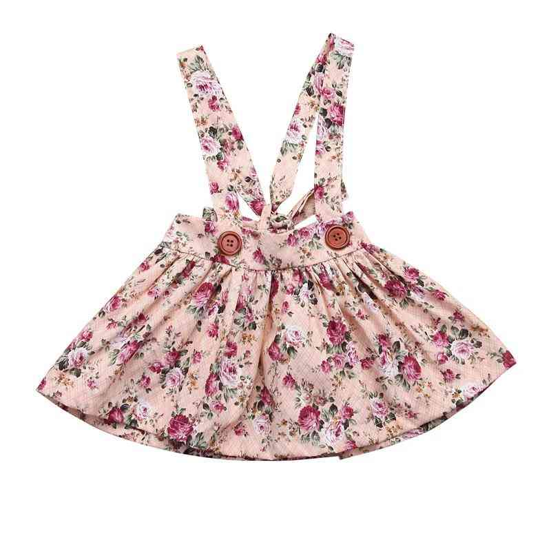 Floral Printing Tutu Skirt With Suspender, Newborn Party Clothes