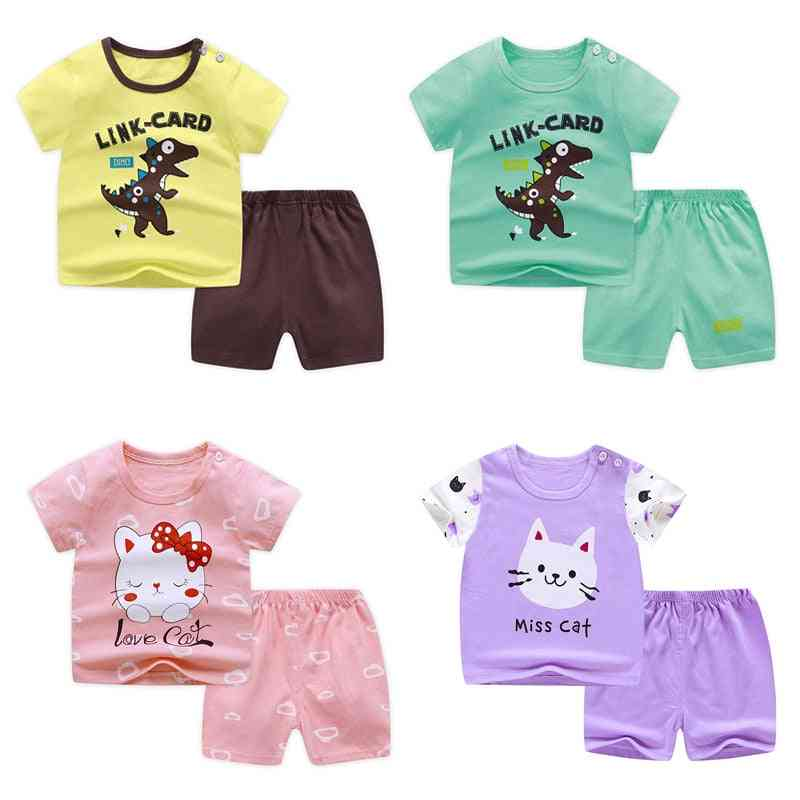 Baby Short Sleeve Suit, Cotton Summer Clothes Sets