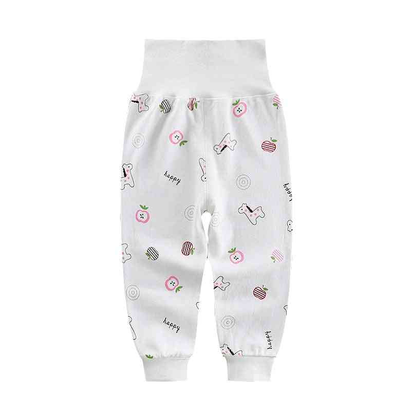 Newborn Baby Pants, High Waist Cotton, Elastic Waist Leggings