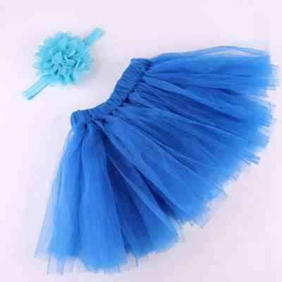 Baby Girl Tulle Tutu Skirt, Flower Headband Set