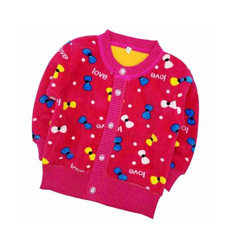 New Cartoon Long Sleeve Plus Thick Velvet Warm Clothes Kids Sweater For