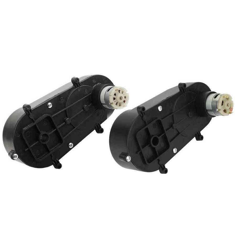 Universal Rs380 Worm Gearbox For Electric Car With Motor