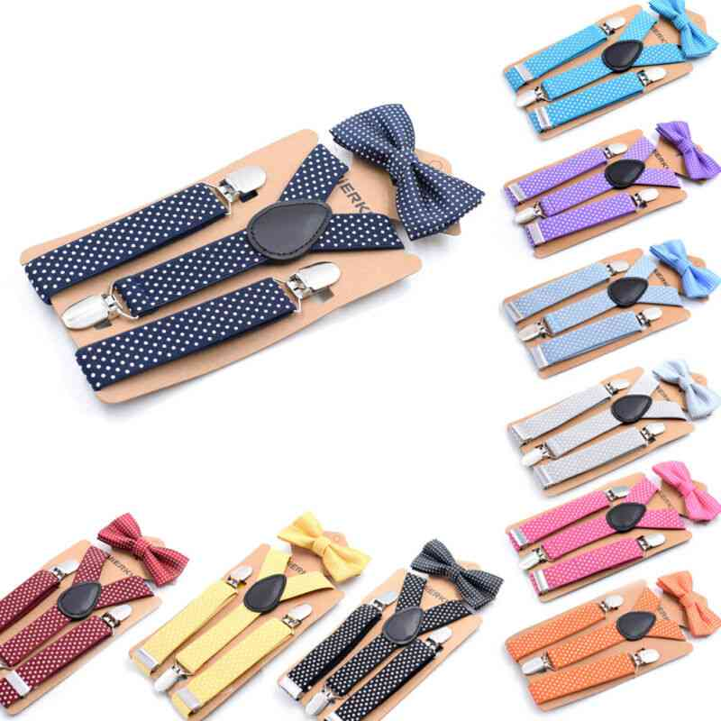 Causal Suspender And Clip Bow Tie