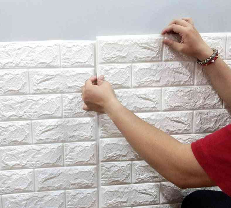 Waterproof , 3d  Brick Style Wallpaper