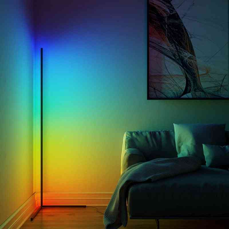 Modern Rgb Remote Controlled Led Floor Lamps With Universal Adapter